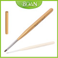 2015 BQAN Professional Nail Brush Gold Color Wood Hand Oblique Nail Brush UV Gel