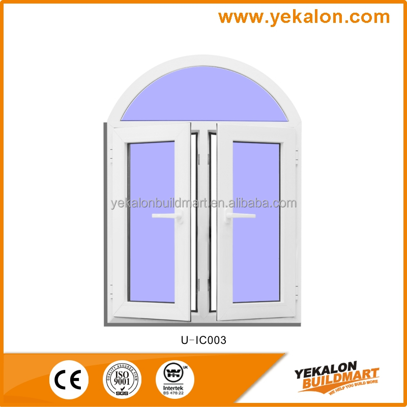 Yekalon High Quality UPVC window Casement pvc sliding glass window