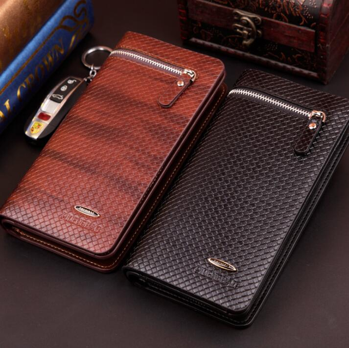 Mens handbag leisure <strong>wallet</strong> men's long European and American handbag zipper phone bag