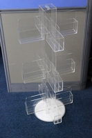 Floor Stand Rotating Acrylic Greeting Card Display Stand