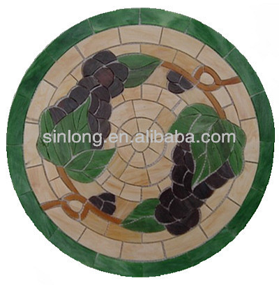 round glass mosaic table tops for decoration