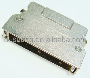 68pin metal dust cover 180degree 1.27mm Pitch shielded,spring-latch