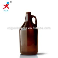2 liter amber glass beer bottle