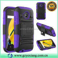 New China Products Mobile Phone Case For Moto E2 Cover Shockproof Belt Clip