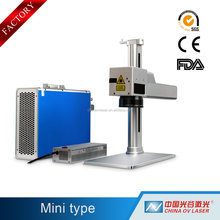 High precision 10W fiber laser marking Machine to Print Business Cards
