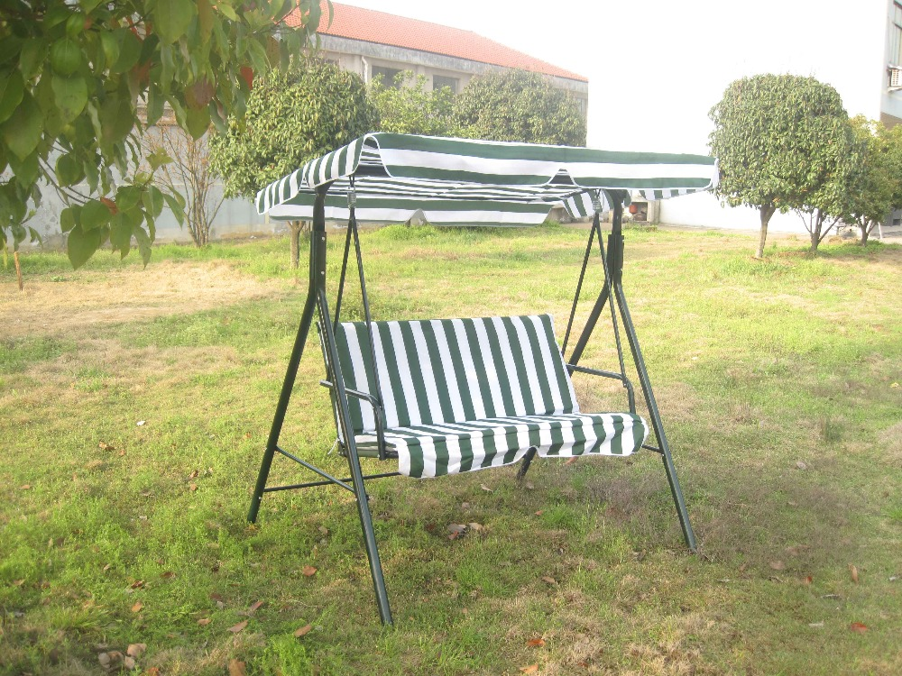 Outdoor Mental 2 seater garden swing chair with cushion and canopy