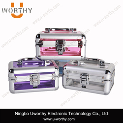 Transparent Aluminum Dog Grooming Tool Box Cosmetic Metal Case