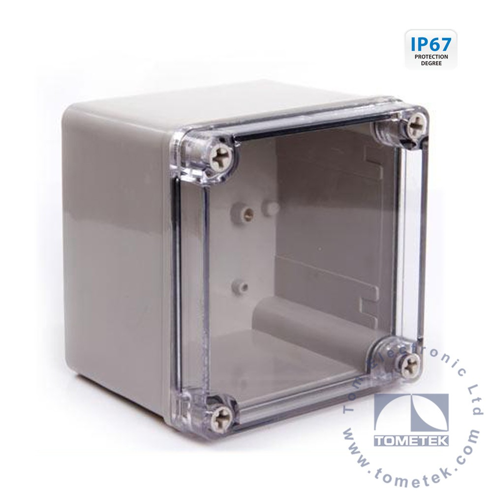 125*125*100mm PC Transparent Plastic Clear Cover electric meter box