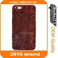 New design wooden pc hard case phone cover for iphone 5 and 6