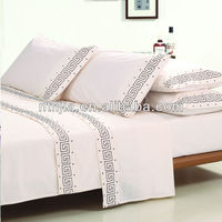 2014 new design 100% cotton embroidery indian bed sheets
