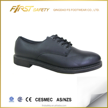 FS3017 Black Action Leather + Taibrelle Lining Sharp Toe Rubber Combined Heel Outsole Military Officer Government Officer Shoes