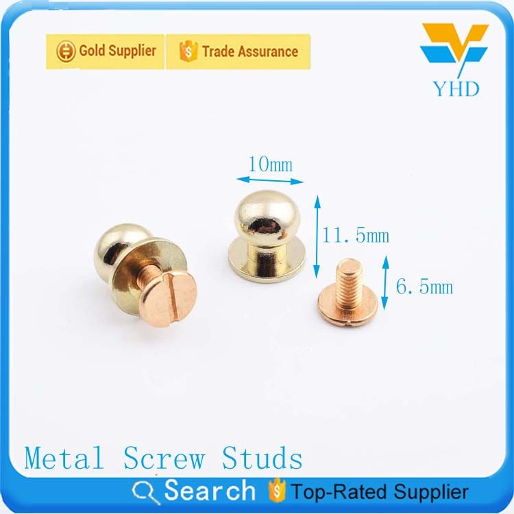 fashion 2017 new product shiny gold metal brass decorative studs for shoes