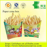 paper box or bag for fries or chips used in the fryer,