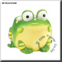 animal ceramic frog shape ornamental flower vase