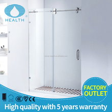 America Standard Large Toughened Frosted Glass Bathroom Shower Partition Door JP0204