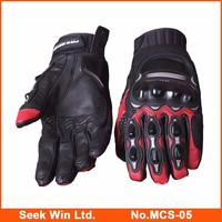 New Motorcycle Street Gloves Leather Motorbike Gloves Racing Gants Moto Full Finger Motorcycle Gloves MCS-05