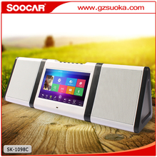 Stylish Mini wireless bluetooth speaker with touch screen