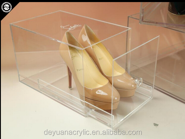 Manufacturer Price Elegant Clear Slide Acrylic Shoe Box