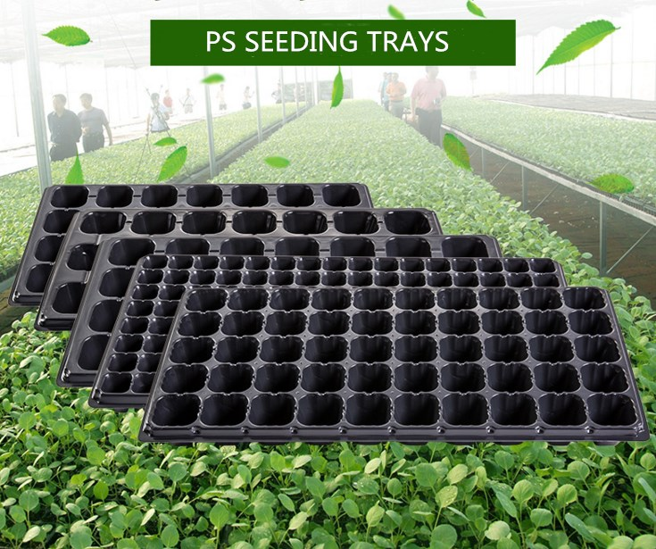 128 cells PS material plastic seedling trays with best quality