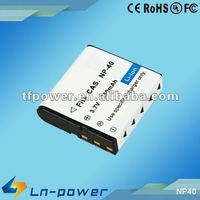 3.7V,1250mAH Camera Battery rechargeable battery for CASIO NP-40