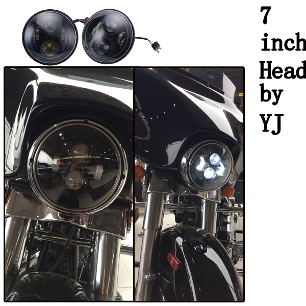Hot sale 7'' motorcycle led headlight for jeep/harley off road 7inch motorcycle led headlight