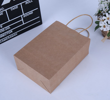 brown kraft paper hand bag garment gift bag