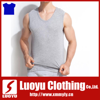 95% cotton 5% Spandex men gym wear fitness tank top