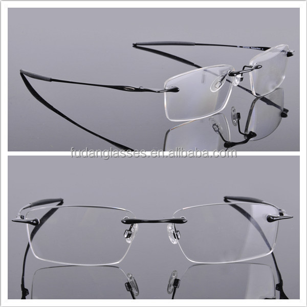 Titanium Optical frames Mens OX3113 Polished Black Rimless Eyeglasses frames Wholesale
