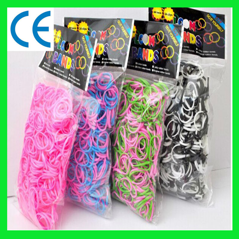 New style Metallic/Gold/Silver/glitter/scented/glow in dark/tie dye/polka dots DIY fashion colorful loom band