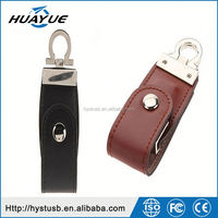 Sale promotion Custom leather usb flash drives 8gb 32gb 64gb memeory stick wholesale alibaba