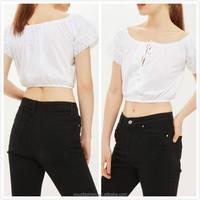 tops for women 2016 lace detail crop cold shoulder tops