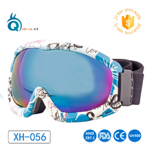 High quality cheap custom snow snowmobile ski goggles Beauty Frame Anti Fog and UV Protected snowboard skiing safety goggles