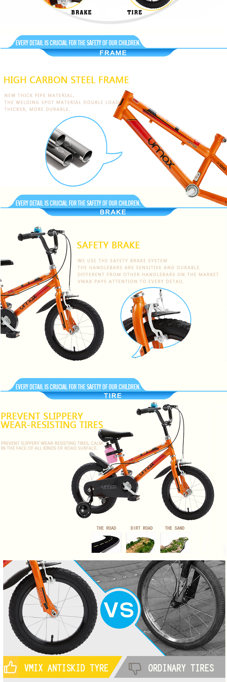 2016 hot promotional child bike for 3 years old boy bicycle YQ12-20