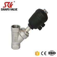 SS304 Plastic Round Head Pneumatic Angle Seat Valve