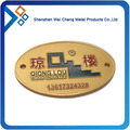 Promotional Cheap Custom oval shape name badge