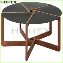 Modern design living room furniture no folded coffee table/wood table Homex_BSCI