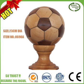 2017 Cool Carft Carved Wooden Football