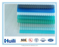 8mm cheap twin-wall polycarbonate sheet with UV coating for greenhouse use