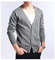 6 buttons cashmere men's design cardigan sweater