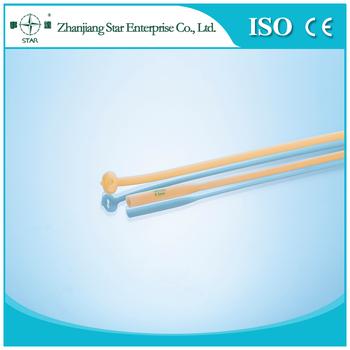 Silicone Coated Latex Malecot Catheter with CE and ISO Certicified