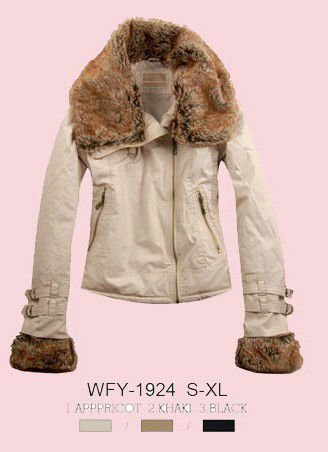 2012 new style women cotton winter jacket with fur decoration
