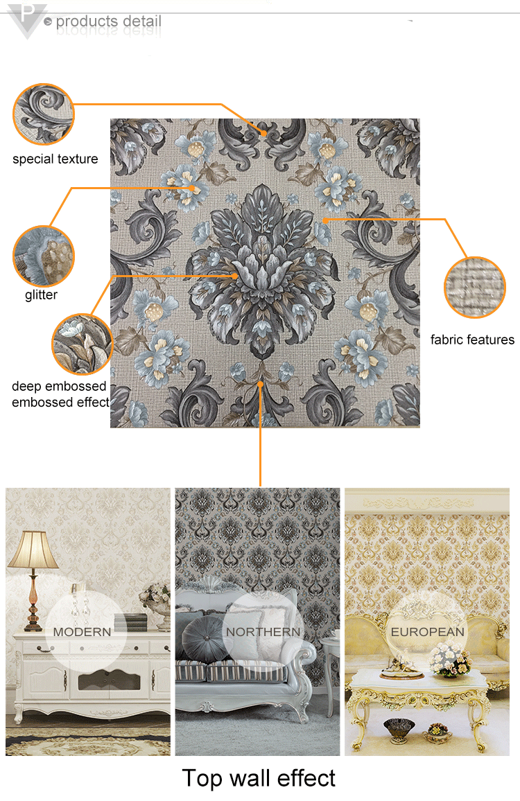 deep embossed damask arabic wallpaper design beautiful arab style wallpaper for home interior decor