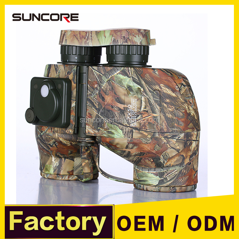 SUNCORE 7X50 HD Military Marine Binoculars Telescope with Rangefinder Compass, BAK4 Porro Prism Floating Waterproof