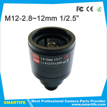 2.8-12mm manual focusing HD camera lens M12 lens 3megapixel monitoring camera lens