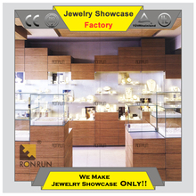High end manufature of showcase for jewelry shop watch display counter show case jewelry display