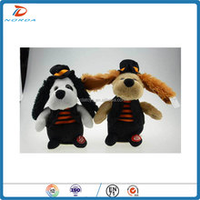 Electric paw ear plush shaking his head dancing dog doll toys