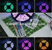 5M SMD 5050 LED Waterproof Strip Light 300 Leds Flash RGB +44K IR Remote Control