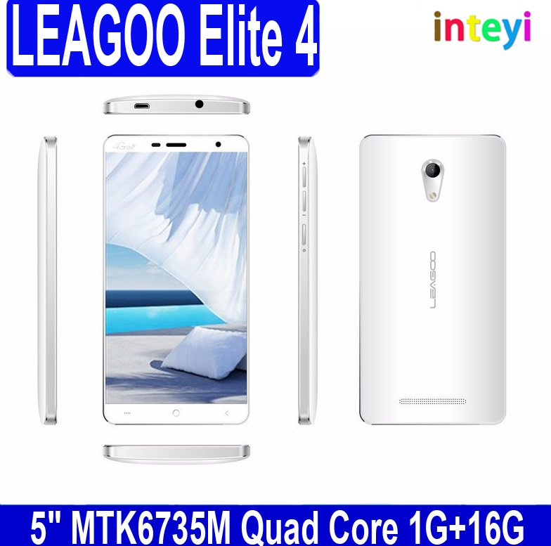 Wholesale Leagoo Elite 4 5.0 inch Android 5.1 Smart Phone, quad core 16GB GPS 4G mobile phone