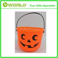 Halloween party gifts plastic pumpkin pail