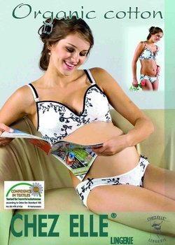 Organic Breastfeeding Bra with print